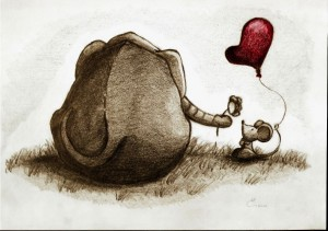 Elephant in love. © LaVie n Rose